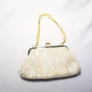 Vintage La Regale Gold Purse w/ Beaded Handle